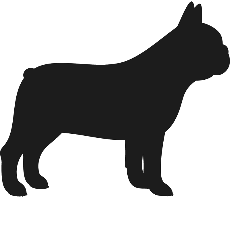800x800 French Bulldog Stamp (Silhouette) French Bulldogs