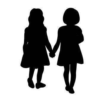 340x340 Free Silhouettes 2 People, Icon, Simple