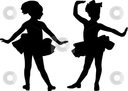 450x319 Little Girl Silhouette Clip Art