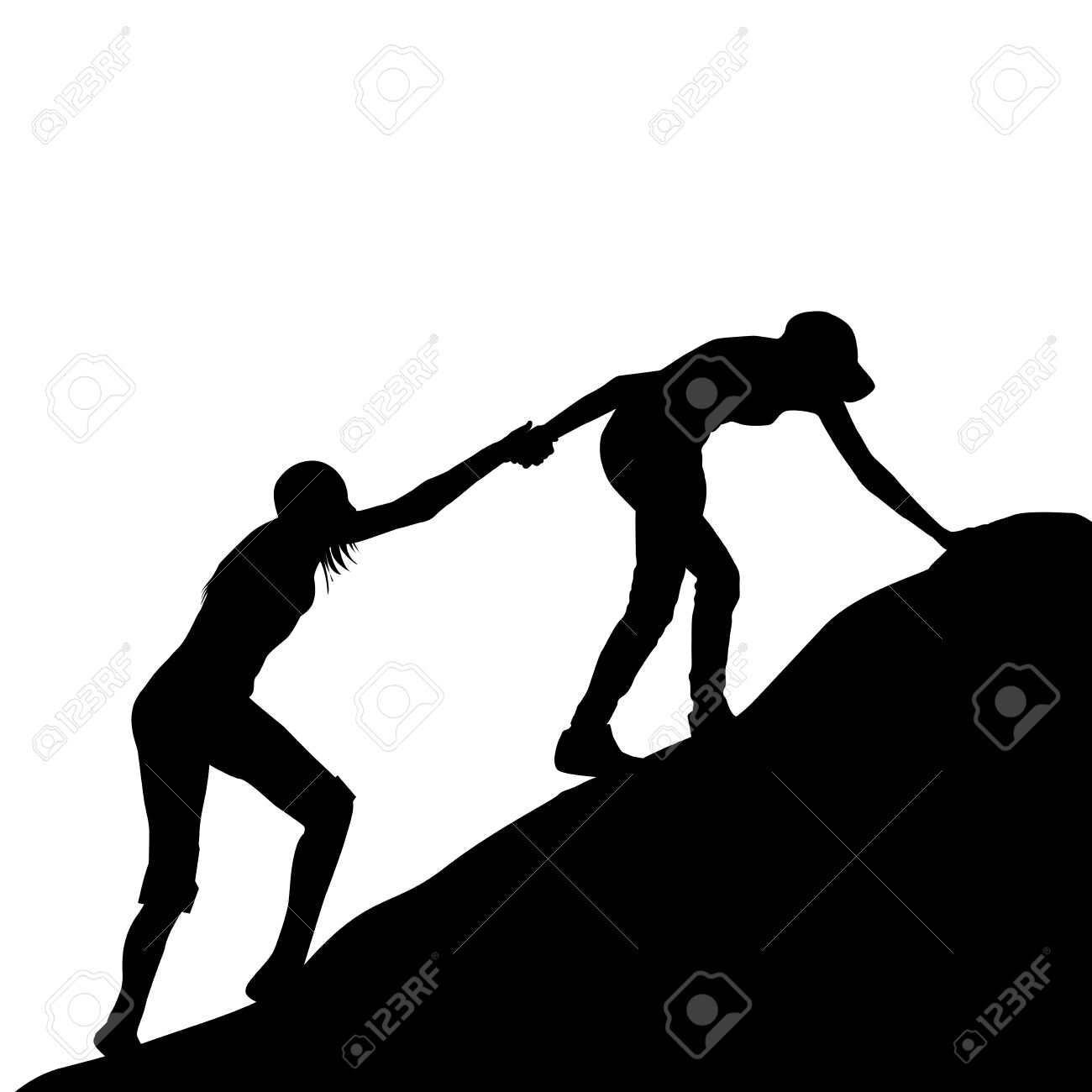 1300x1300 Clipart Silhouette Helping Hand