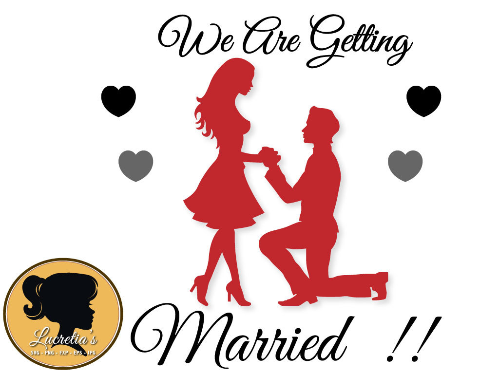 1024x768 We Are Getting Married Svg, Clipart, Svg Files For Silhouette