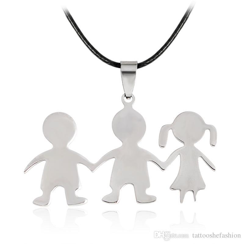 800x800 Wholesale Bff Best Friend Necklaces 2 4 People Children Silhouette