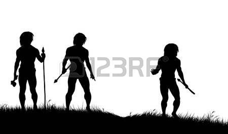 450x265 Caveman Clipart Silhouette