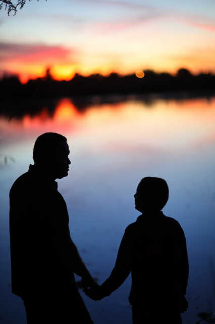 426x640 Father And Son Silhouette