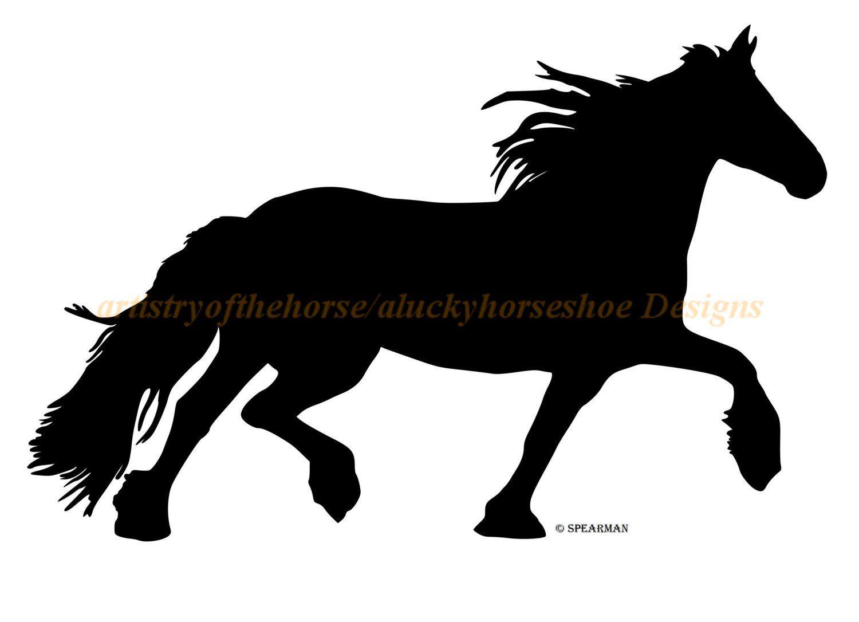 1500x1086 Horse Trailer Decal, Trailer Decal, Friesian Horse Decal,horse