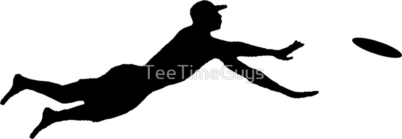 800x278 Ultimate Frisbee Layout Silhouette Dive Jump Catch Stickers By