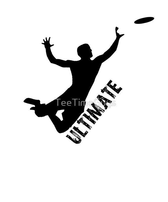 666x800 Ultimate Frisbee Silhouette Frisbee Jumping Catch Art Prints By