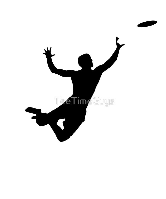 666x800 Ultimate Frisbee Silhouette Frisbee Jumping Catch Posters By