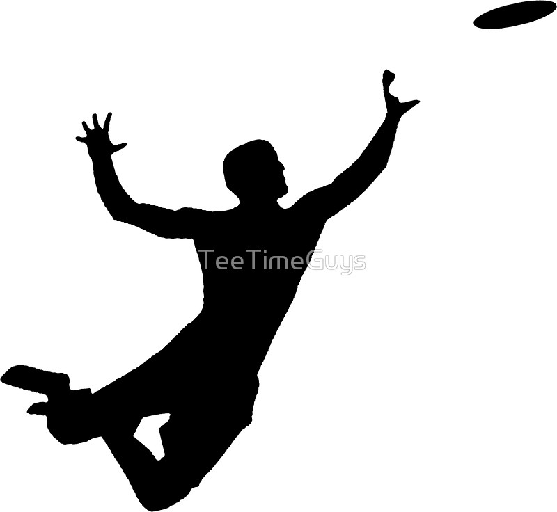 800x736 Ultimate Frisbee Silhouette Frisbee Jumping Catch Stickers By