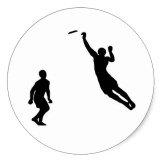 324x324 Ultimate Frisbee Silhouette
