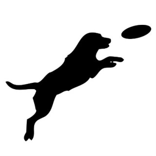 320x320 Dog Frisbee Silhouette