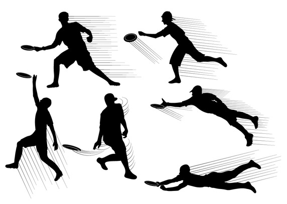 572x407 Frisbee Silhouette Vector Free Vector Download In Ai, Eps