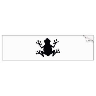 307x307 Frog Silhouette Stickers Zazzle