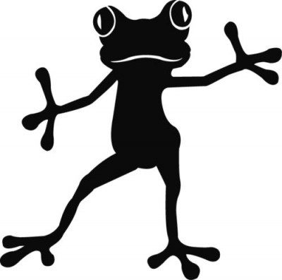 400x397 Frog Vinyl Decal Sticker