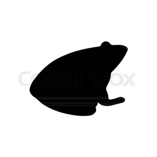 320x320 Frog Silhouette On White Background, Vector Illustration Stock
