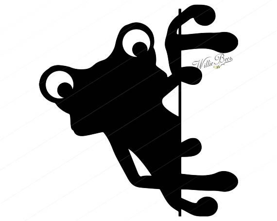 570x456 Peeking Frog Silhouette Clipart 12 Inches Frog Peeking