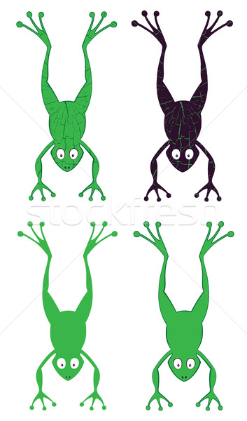 353x600 Cartoon Jumping Frog Silhouette Illustration Vector Illustration