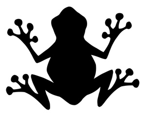300x238 Silhouette Clipart Image Silhouette Of A Frog From Below Or Above