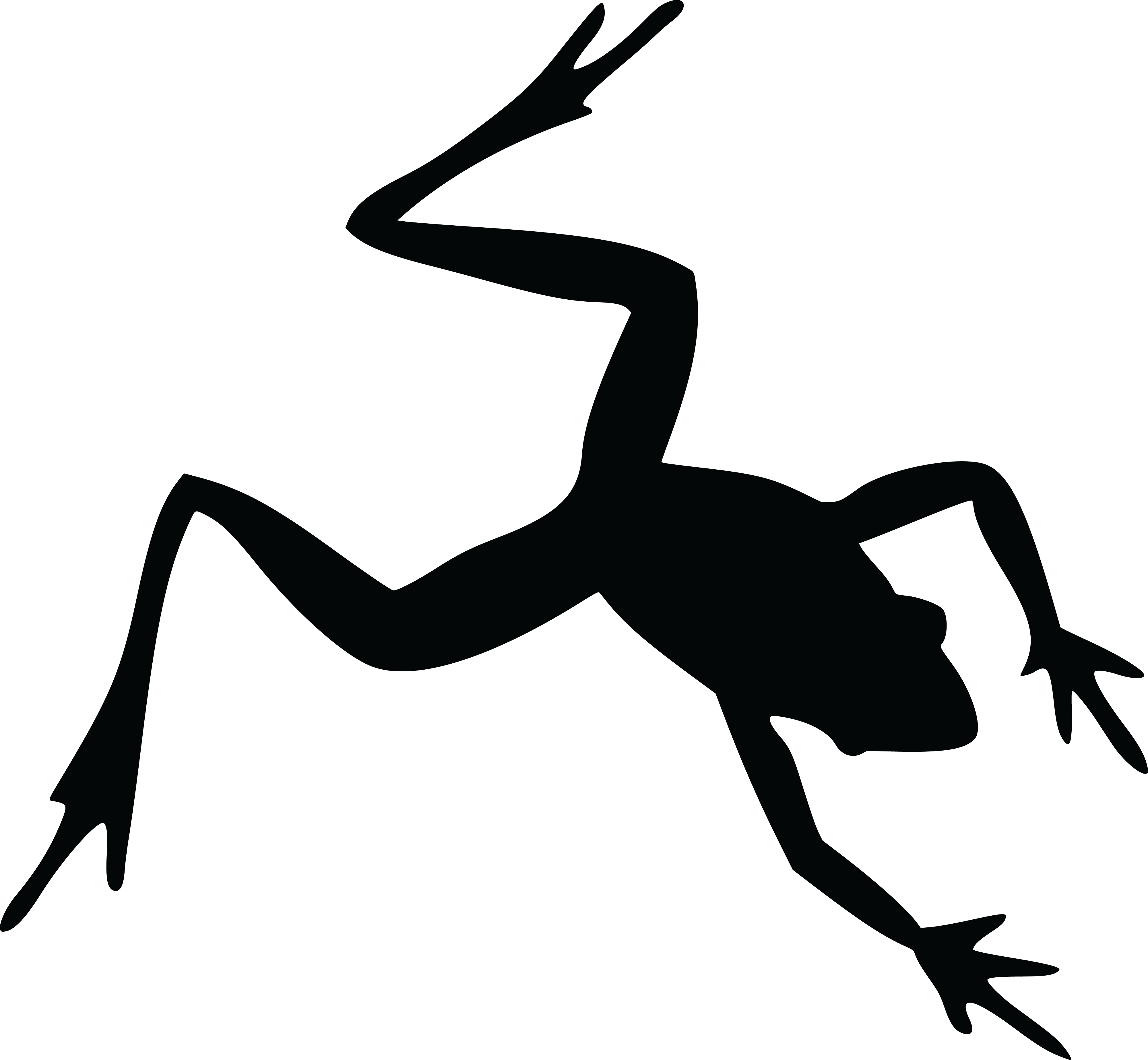4000x3693 Free Clipart Of A Frog Silhouette