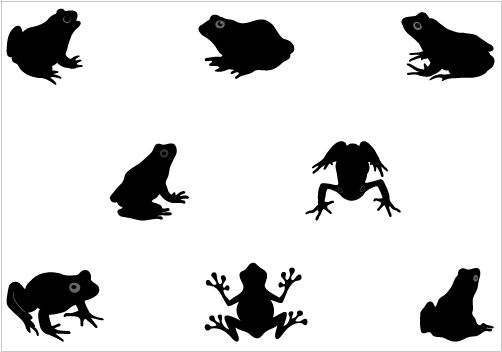 502x352 Frog Silhouette Vector Search Results Crafting With Silhouette
