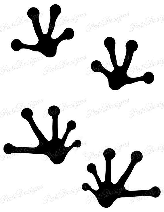 570x738 Frog Footprint Silhouette Animal Footprints Iron By Patidesigns