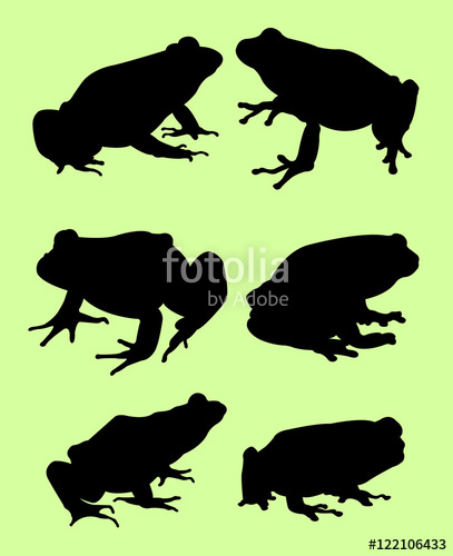 407x500 Frog Silhouette Stock Image And Royalty Free Vector Files