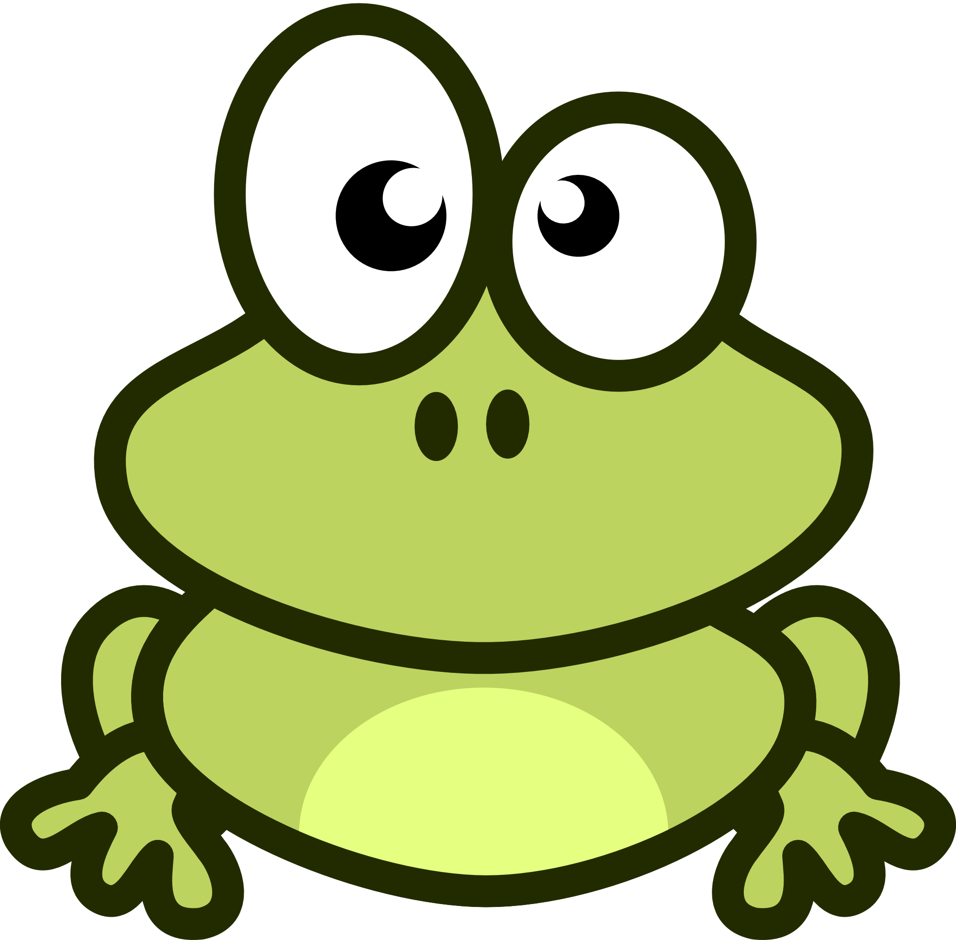 frog silhouette vector at getdrawings com free for personal use