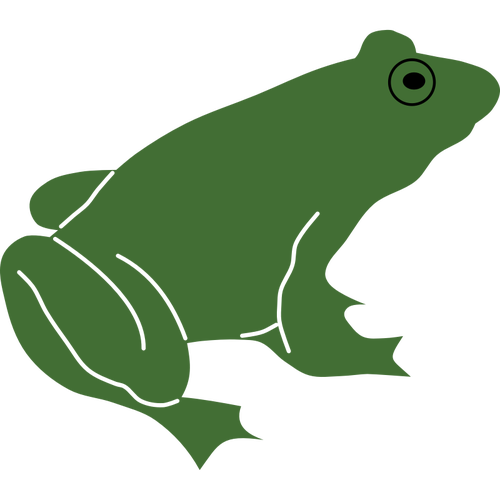 500x500 Frog Silhouette With Black Eye Vector Image Public Domain Vectors