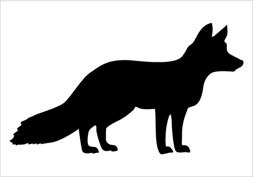 501x352 Sweetlooking Fox Silhouette Clip Art Cliparts Free Download