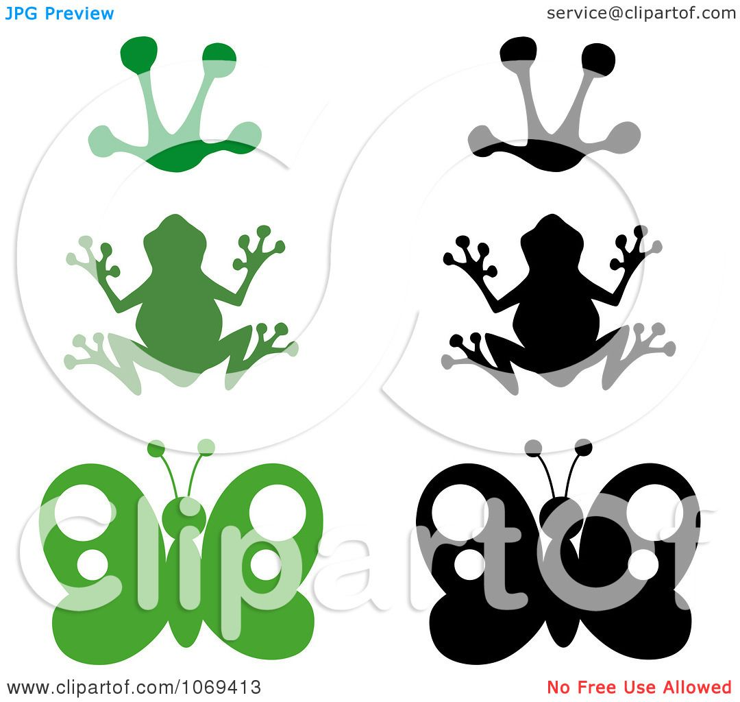 1080x1024 Clipart Frogs And Butterflies