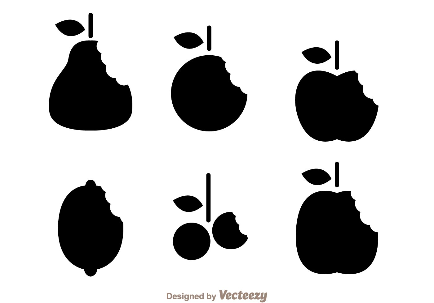 1400x980 Silhouette Fruits Bite Mark Vectors