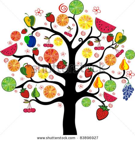 450x470 Fruit Bearing Trees Clipart