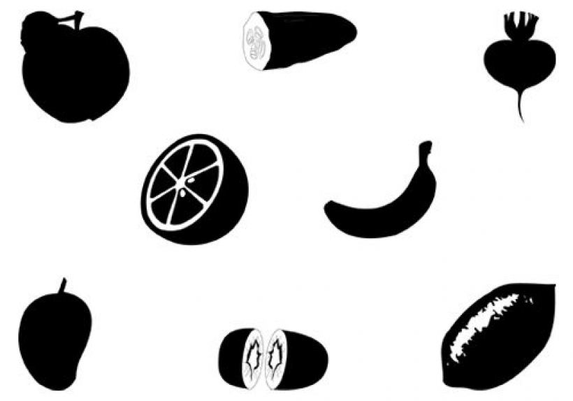 820x574 Fruit Clipart Silhouette