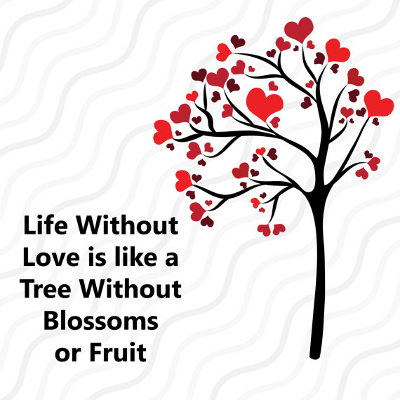 570x570 Tree Heart Svg, Valentine's Heart Tree Svg Valentine Svg Cut Table