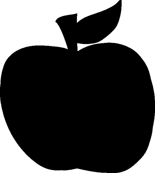 534x597 Apple Svg Silhouette Clip Art
