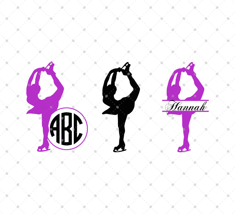 1000x909 Figure Skating Svg Ice Skating Svg Cut Files For Silhouette
