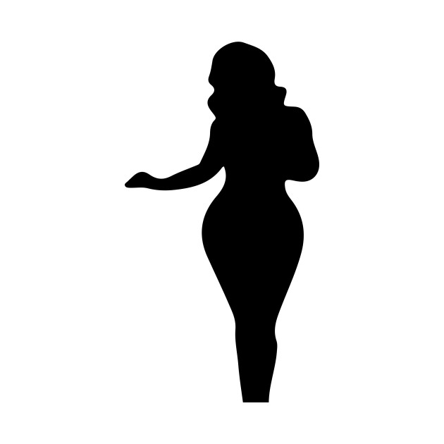 630x630 Limited Edition. Exclusive Full Figured Woman Silhouette