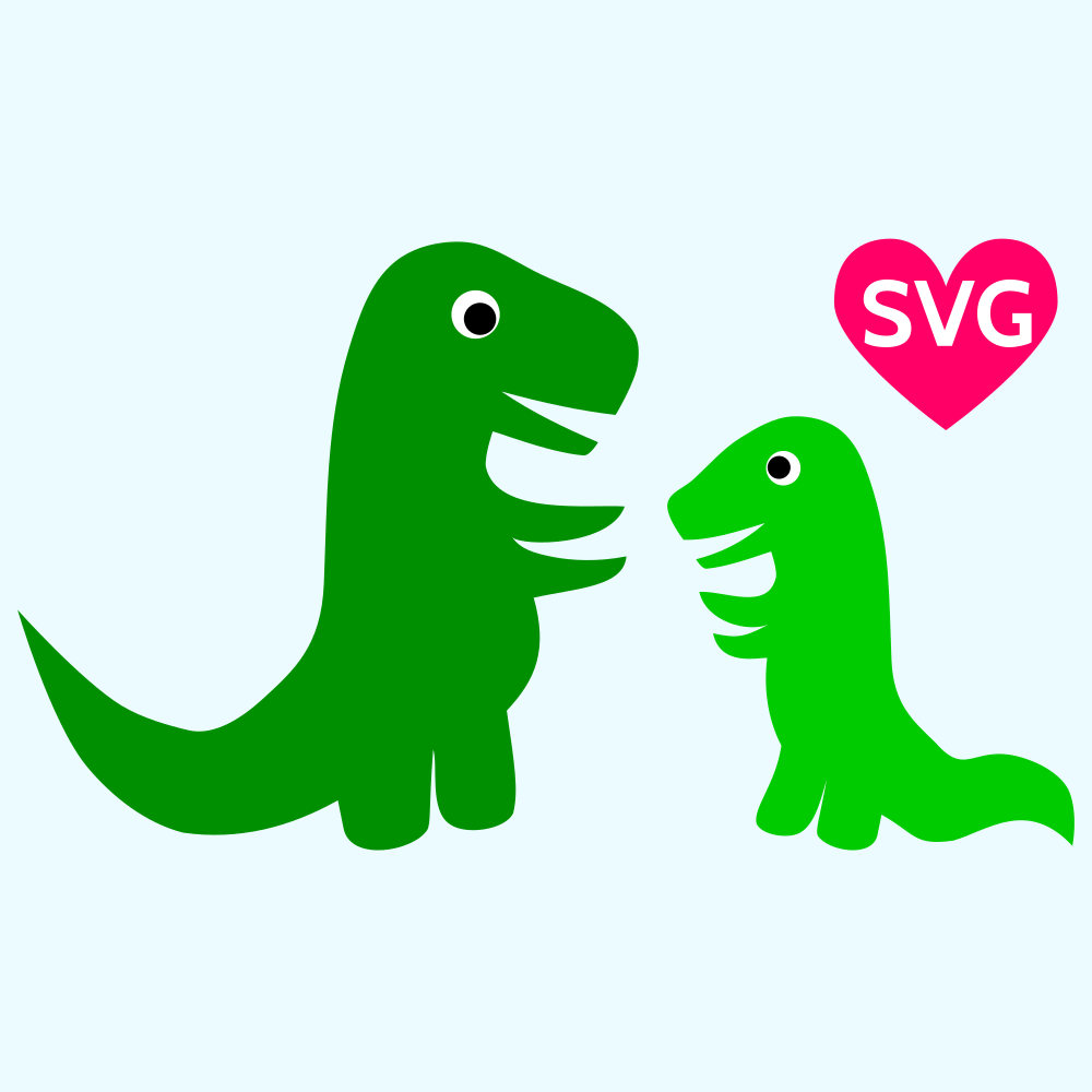 1000x1000 Cute Mom And Baby Dinosaur Svg Files For Cricut And Silhouette