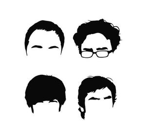 300x282 Funny Big Bang Hair Silhouettes Vinyl Decal Sticker Car Truck