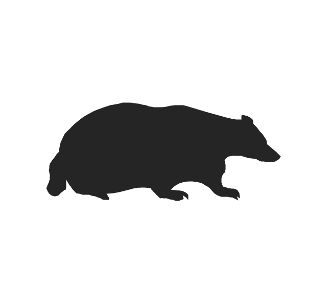 640x592 Badger Clipart Silhouette
