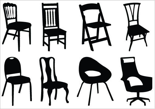 501x352 Chair Silhouette Vector Download Chair Vector Silhouette General