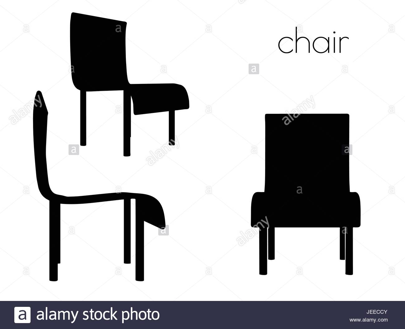 1300x1055 Eps 10 Vector Illustration Of Chair Silhouette On White Background