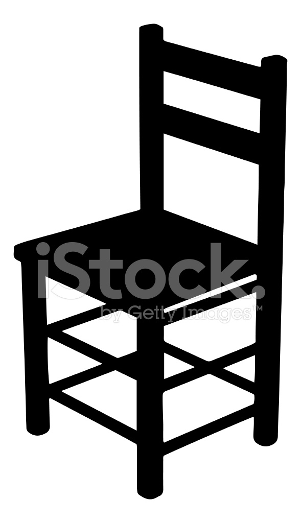 589x1024 Chair Silhouette Stock Vector