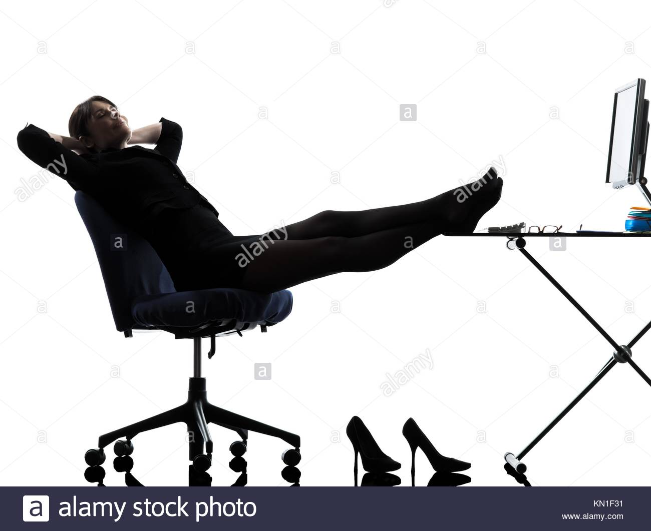 1300x1061e Business Woman Rest G Pause Silhouette Studio Isolated