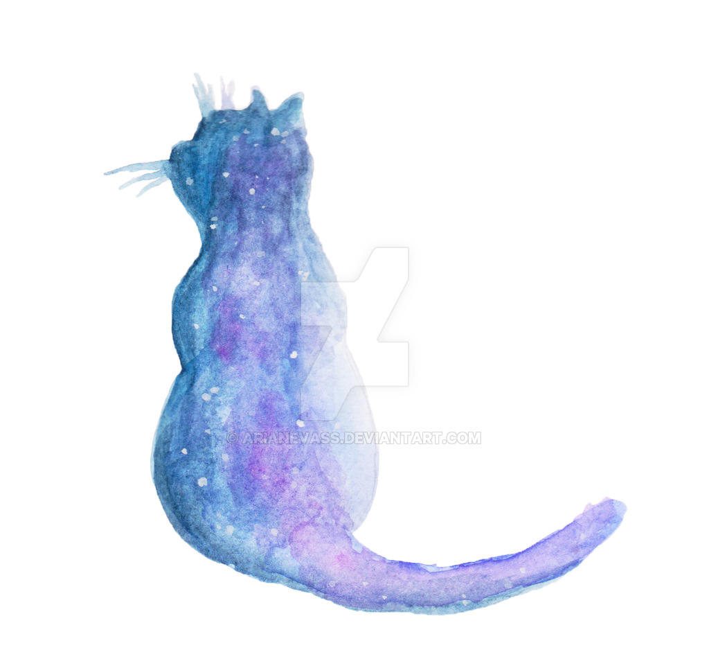 1024x964 Galaxy Cat Silhouette By Arianevass