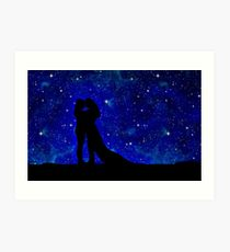 210x230 Galaxy Silhouette Wall Art Redbubble