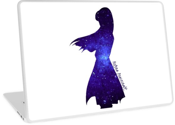 558x400 Gundam Wing Relena Peacecraft Galaxy Silhouette Laptop Skins By