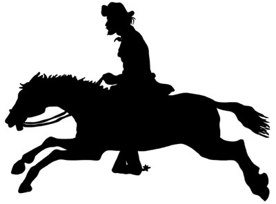 400x296 Galloping Silhouette