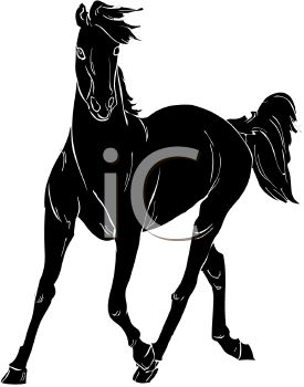 275x350 Picture Of A Silhouette Of A Horse Galloping In A Vector Clip Art