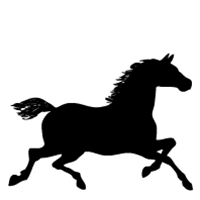 200x200 Customize Pet Lover Products With A Horse Silhouette